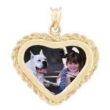 Forever Yellow Gold Photo Pendant