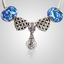 Forget Me Not Cremation Charm Set