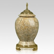 Fossil Stone Gold Cremation Urn