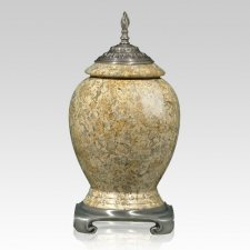 Fossil Stone Pewter Cremation Urns