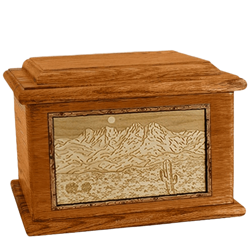 Four Peaks Mahogany Memory Chest Cremation Urn