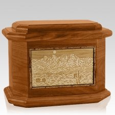 Four Peaks Mahogany Octagon Cremation Urn