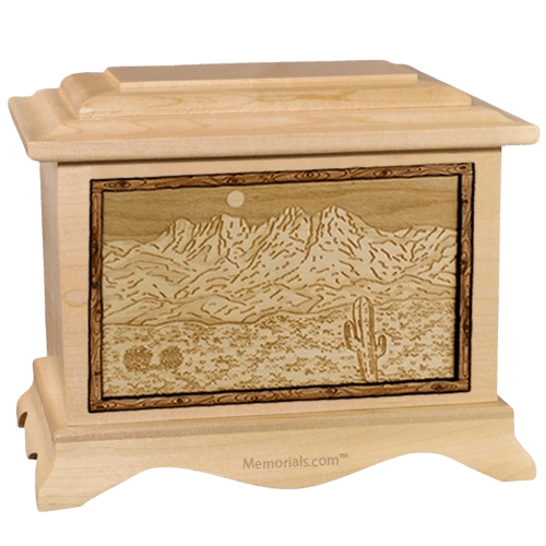 Four Peaks Maple Cremation Urn
