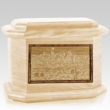 Four Peaks Maple Octagon Cremation Urn