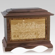 Four Peaks Walnut Cremation Urn