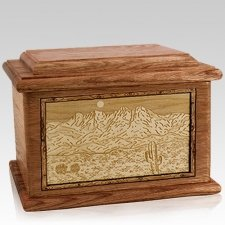 Four Peaks Walnut Memory Chest Cremation Urn