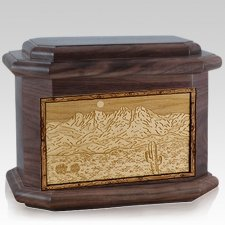 Four Peaks Walnut Octagon Cremation Urn
