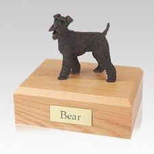 Fox Terrier Bronze Large Dog Urn