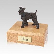 Fox Terrier Bronze Medium Dog Urn