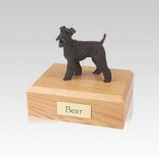 Fox Terrier Bronze Small Dog Urn
