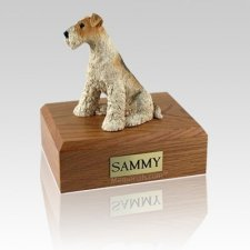 Fox Terrier Large Dog Urn
