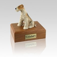 Fox Terrier Medium Dog Urn