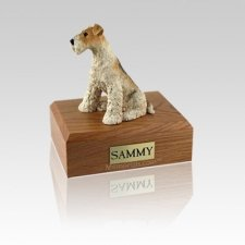 Fox Terrier Small Dog Urn