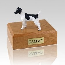 Fox Terrier Smooth Black & White Large Dog Urn
