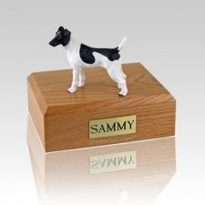 Fox Terrier Smooth Black & White Medium Dog Urn