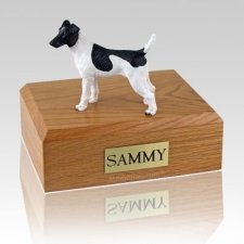 Fox Terrier Smooth Black & White X Large Dog Urn