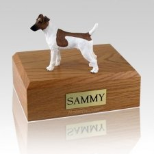 Fox Terrier Smooth Brown & White X Large Dog Urn