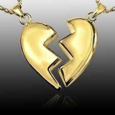Fractured Heart Cremation Pendant II