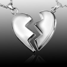 Fractured Heart Cremation Pendant
