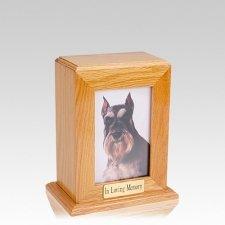 Framed Oak Vertical Photo Medium Pet Urn