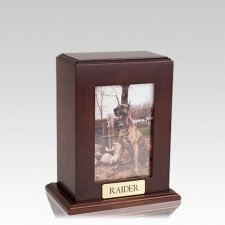 Framed Walnut Vertical Photo Medium Pet Urn