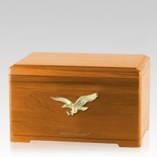 Freedom Oak Cremation Urn