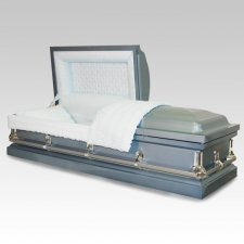 Madison Blue Metal Casket