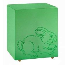 Fuzzy Green Bunny Urn