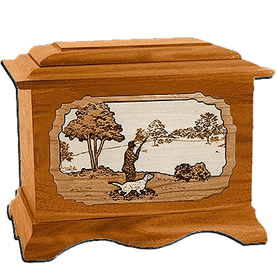 Gardening Mahogany Cremation Urn for Two