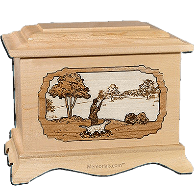 Gardening Maple Cremation Urn for Two