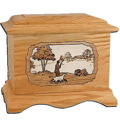 Gardening Oak Cremation Urn for Two