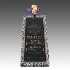 Bronze Grave Marker Ledger For Two