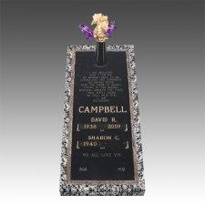 Bronze Grave Marker Ledger For Two