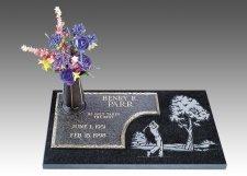 Golfer Devotion Grave Marker