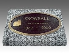 Oval Pet Headstones