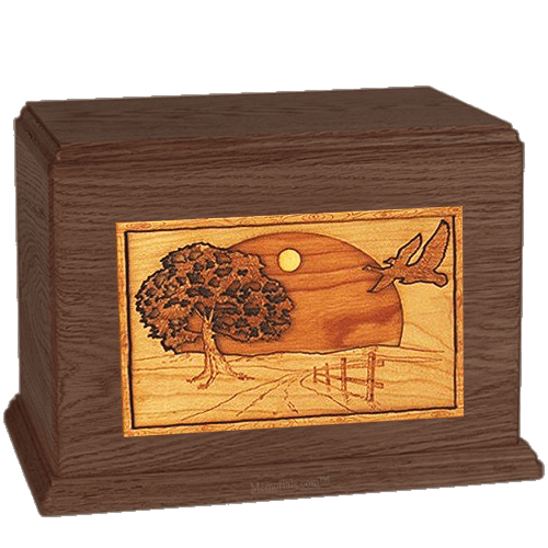 Geese Walnut Companion Urn