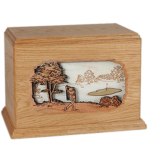 Golf Oak Companion Urn