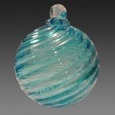 Galaxy Glass Cremation Ornament