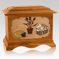 Gardening Mahogany Cremation Urn