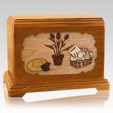Gardening Mahogany Hampton Cremation Urn