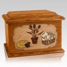Gardening Mahogany Memory Chest Cremation Urn