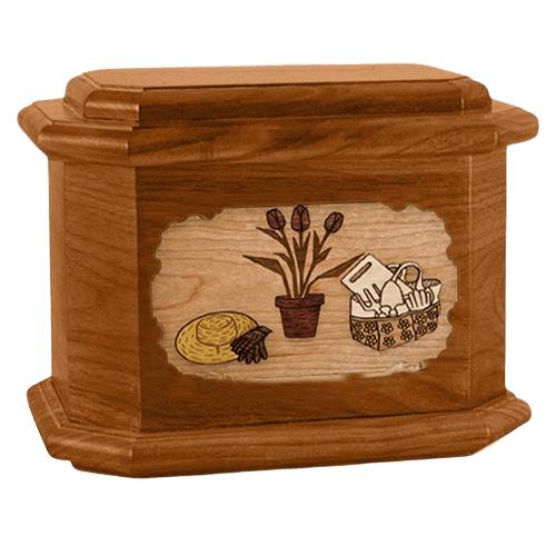 Gardening Mahogany Ocatgon Cremation Urn