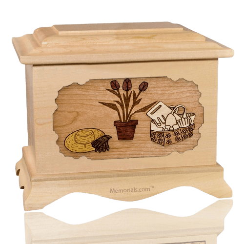 Gardening Maple Cremation Urn