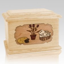 Gardening Maple Memory Chest Cremation Urn