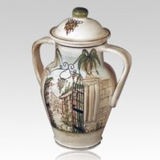 Hacienda Ceramic Cremation Urn