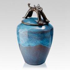 Gatto Ceramic Cat Urn