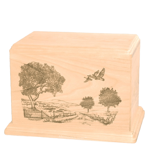 Geese Companion Maple Wood Urn