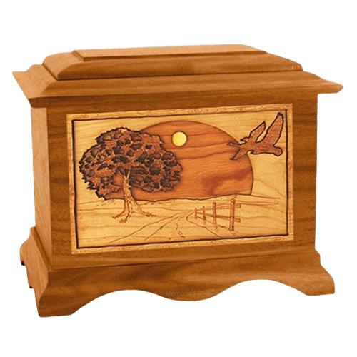 Geese Mahogany Cremation Urn