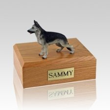 German Shepherd Black & Silver Large Dog Urn
