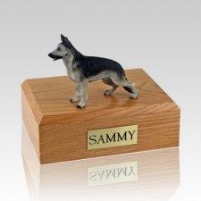 German Shepherd Black & Silver X Large Dog Urn